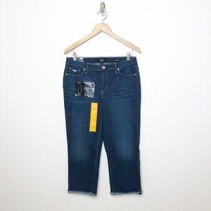 Nine West Jeans Chrystie Capri Frey Stitch Hem 12